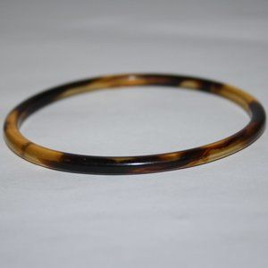 Vintage brown plastic bangle bracelet
